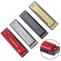 1pc 10 Hole Harmonica Mouth Organ Puzzle Musical Instrument Beginner HarmonicaSE