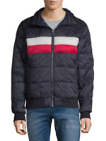 NEW $159 Tommy Hilfiger Striped Puffer Jacket Men's size XL  Blue Red White