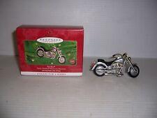 2000 Hallmark Keepsake Ornament Harley Davidson Fat Boy Collector's Series New