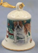englische französische bulldogge Porzellan glocke figur porzellan weihnachts