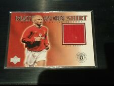 2002 Upper Deck Manchester United Legends Wes Brown Game Worn Shirt