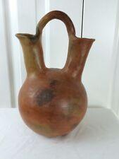 "RARE Massive 12.5"" H Navajo Pinon Pitch Native American Indian Wedding Vase"