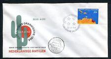 Ned. Antillen FDC E32_ 5aM, blanco, Curacao ;