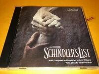 SCHINDLERS LIST soundtrack CD score John Williams Stevn Spielberg Itzhak Perlman