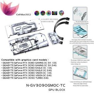GPU Dual Water Block For GIGABYTE 3080 3090 GAMING EAGLE VISION TURBO Memery