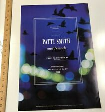 Vintage Poster Print Patti Smith And Friends @ The Warfield 1996 Rolled Iconic