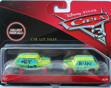 Disney Pixar Cars 3 Hit and Run 2 Pack #1 of 2 # 2 of 2 IMPERFECT PACKAGE