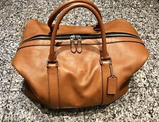 COACH Brown Leather Duffle Travel Bag
