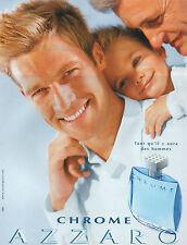 Publicité Advertising 2002  Parfum  CHROME pour homme  AZZARO