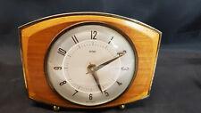 Metamec Carriage Mantle Wood c1950s Clock