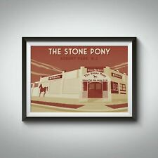 More details for the stone pony asbury park new jersey travel poster - bucket list prints