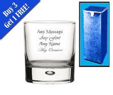 Personalised Engraved Bubble Whiskey Glass With Gift Box - Any Message Engraved!