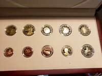 Greece 2013 PROOF 8 EURO coin set with 2 euro coins commemorative