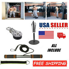 DIY Fitness Pulley Cable Machine Gyms Workout System Equipment Home Lifting Tool