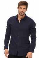 DSTREZZED -  Hemd Slim-Fit Herren dunkelblau Designer Neu: 69€