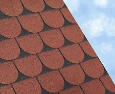 SCALLOPED Felt Roofing Shingles | Shed Roof Shingles | RED FIVE TAB 3M2/PACK