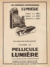 Y9239 Apparecchi fotografici Lumière - Pubblicità d'epoca - 1931 Old advertising