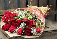 Fresh Flower Delivery WITH LOVE BOUQUET FREE MESSAGE CARD Anniversary flowers