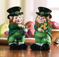 Lovable Irish St. Patrick's Day Leprechaun Salt & Pepper Shaker Set