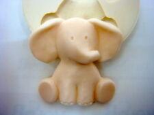 Bebé elefante, Molde de Silicona Molde Chocolate Jabón Arcilla Polimérica Resina de cera de vela