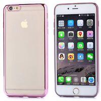 iPHONE 6 6S PREMIUM ULTRA SLIM PINK TRANSPARENT SILICONE GEL TPU CASE COVER NEW