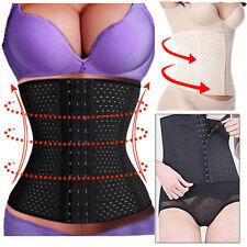 Breathable Waist Tummy Girdle Belt Sport Body Shaper Trainer Control Corset UK