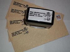 Custom self inking Mr Zip mailman/postal carrier running rubber stamp by Amazing