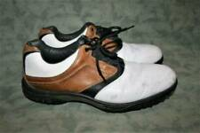 FootJoy Contour Series White/Brown Leather Golf Shoes 13 M