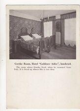 Goethe Room Hotel Goldener Adler Innsbruck Austria Postcard 167b