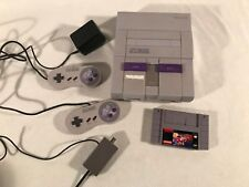 Super Nintendo System SNES with Original Cords & Two Controllers ~ 1 Game