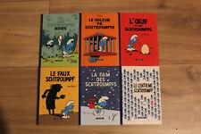 """Lot de 6 mini livres BD """"Les schtroumpfs"""" - 2008 - Le Soir"""