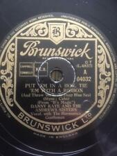 DANNY KAYE ANDREWS SISTERS 78 - PUT EM IN A BOX TIE EM WITH A RIBBON - BRUNSWICK