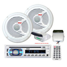 "*KIT* Pyle Marine Audio AM/FM/CD/MP3/USB/SD Player w/Housing & 4 x 6.5"" Speakers"