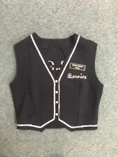 Vintage dance club vest Black & white trim Thief River Falls Mn polka square