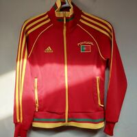 Adidas Women's Full Zip Track Jacket Portugal 10 Zipped Pockets Red Yellow Small