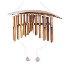 FAIRTRADE GIANT EXTRA LARGE  BAMBOO AND COCONUT WIND CHIMES FREE POSTAGE 24 BAMB