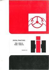 International Tractor 956 956XL 1056 1056XL Operators Manual