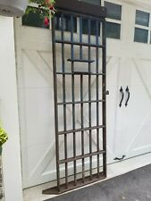 Vintage Old Antique Ny State Prison Jail Cell Door W/ Meal Tray Slot Iron Gate