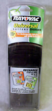 New RAYOVAC Universal BATTERY CHARGER Rechargeable NiCD Alkaline NiMH Model PS3