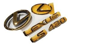 FITS New Lexus LS430 Complete Emblem Full Complete Kit Word Gold 2004 2005 2006