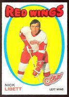 1971 72 OPC O PEE CHEE HOCKEY #140 NICK LIBETT NM DETROIT RED WINGS CARD