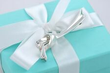 RARE Tiffany & Co. Sterling Silver Large Knot Ribbon Brooch Pin w/ Packaging