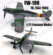 WWII Fw190 D-9 IV./JG3 1945 1/72 aircraft finished plane Easy model