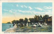 "OAK HARBOR, Ohio  OH     ""Water's Fine""  LOCUST POINT BEACH     Postcard"