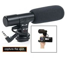 Pro Microphone Mini Condenser For Sony HDR-CX260V HDR-CX290 HDR-CX260