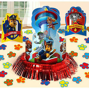 Paw Patrol Table Decorating Kit | Birthday Table Decoration Party Chase Marshal