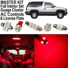 32x Red LED lights interior package + AC & Gauge cluster 1992-1999 Tahoe/Yukon