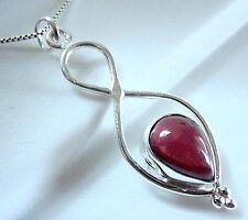 Garnet Necklace Infinity Symbol Declares Forever Love 925 Sterling Silver