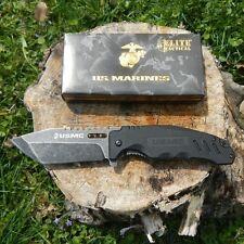 Couteau de Combat USMC Tanto Lame Acier 7Cr13 Stonewash Manche G-10 USM2008SW