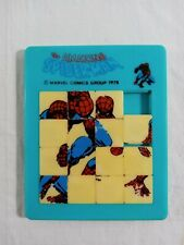 Vintage 1978 The Amazing Spiderman Plastic Slide Puzzle #4620 Made in Hong Kong